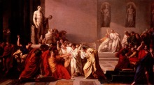 """Vincenzo Camuccini, """"Morte di Cesare"""", 1798,"""