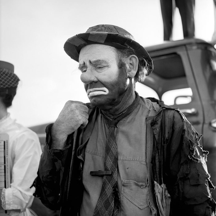"Emmett Kelly as the clown figure ""Weary Willie"", Undated"